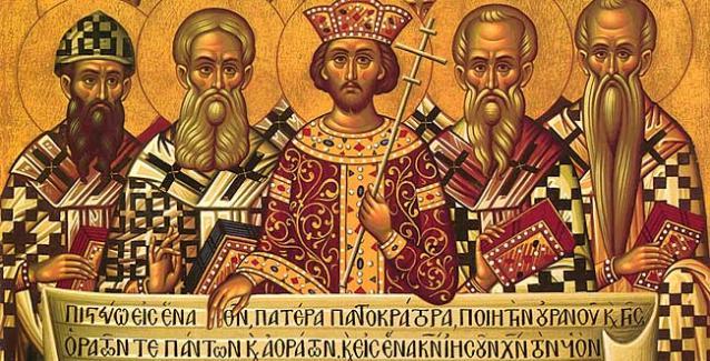 Η Α´ Οικουμενική Σύνοδος των Αγίων 318 θεοφόρων Πατέρων της Εκκλησίας μας.